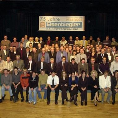 Eisenbiegler Bauunternehmung GmbH - Das Wichtigste was wir haben: unsere Belegschaft im 75. Jubiläumsjahr
