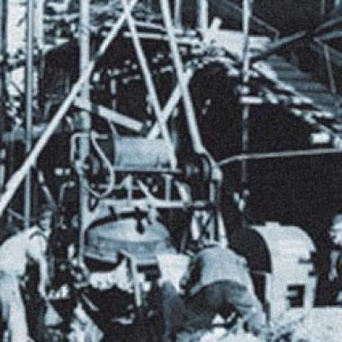Baustelle der 1950er Jahre: Das UHU-Werk Bühl